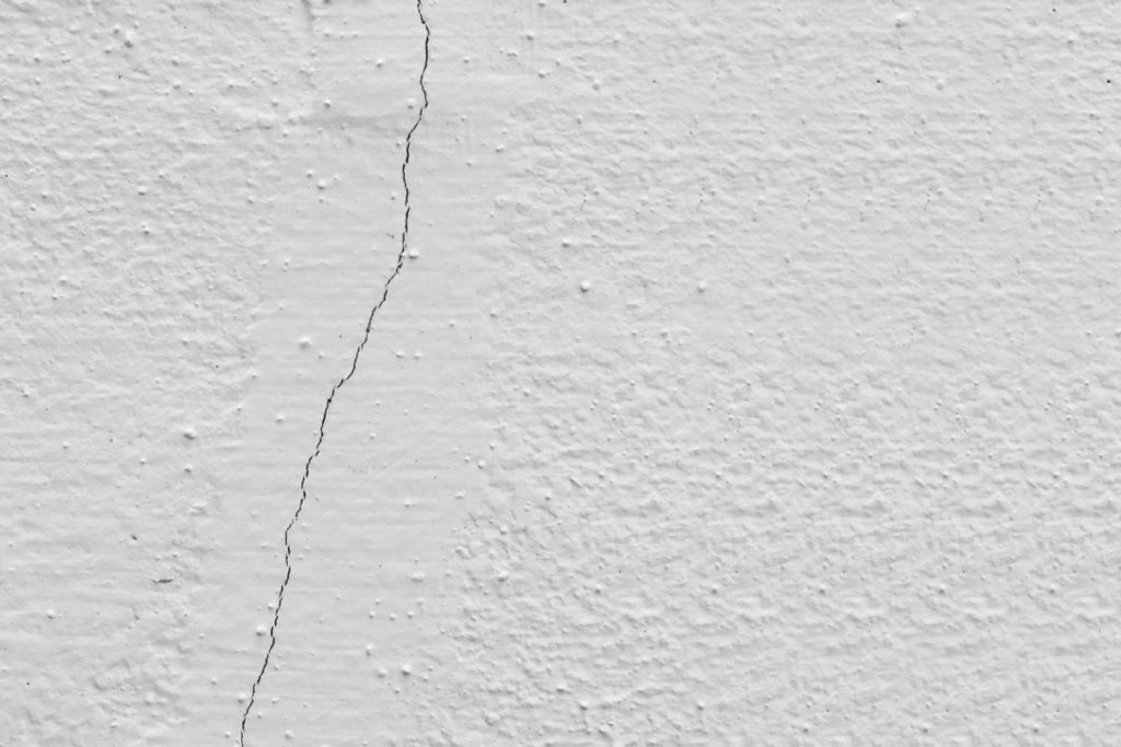 Small cracks in stucco